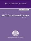 Titulní strana časopisu AUCO Czech Economic Review