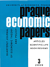 Titulní strana časopisu Prague Economic Papers